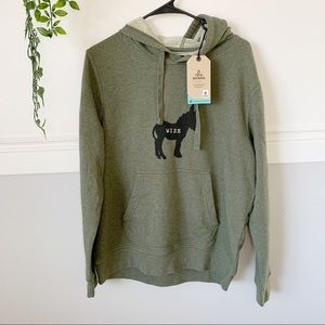 NWT Men's Prana Green Hoodie Sweatshirt